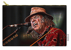 Neil Young Collection Carry-all Pouch by Marvin Blaine