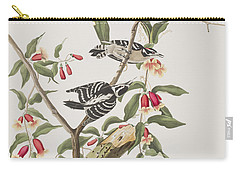 Downy Woodpecker Carry-all Pouch by John James Audubon