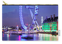 Ferris Wheel At The Waterfront Carry-all Pouch by Panoramic Images
