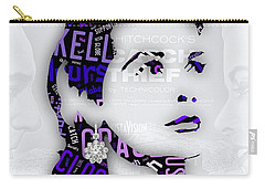 Grace Kelly Movies In Words Carry-all Pouch by Marvin Blaine