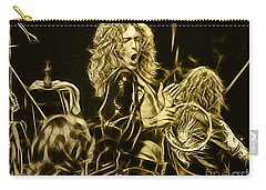 Robert Plant Led Zeppelin Carry-all Pouch by Marvin Blaine