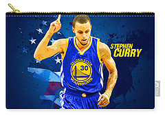Stephen Curry Carry-all Pouch by Semih Yurdabak