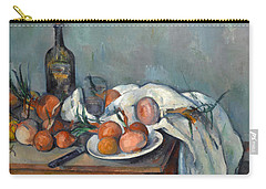 Still Life With Onions  Carry-all Pouch by Paul Cezanne