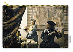The Artist's Studio Carry-all Pouch by Jan Vermeer