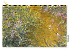 The Path Through The Irises Carry-all Pouch by Claude Monet
