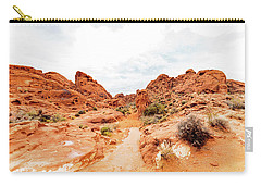 Valley Of Fire State Park Panorama Carry-all Pouch by Daniel Shumny