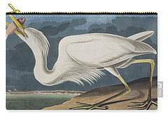 Great White Heron Carry-all Pouch by John James Audubon
