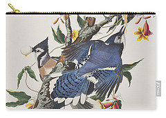 Blue Jay Carry-all Pouch by John James Audubon
