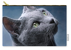 Russian Blue Cat Carry-all Pouch by Nailia Schwarz