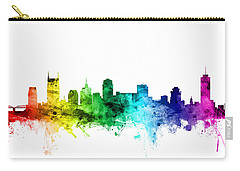 Nashville Tennessee Skyline Carry-all Pouch by Michael Tompsett