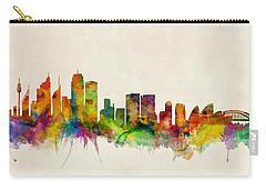 Sydney Australia Skyline Carry-all Pouch by Michael Tompsett