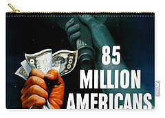 85 Million Americans Hold War Bonds  Carry-all Pouch by War Is Hell Store