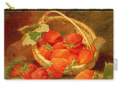 A Basket Of Strawberries On A Stone Ledge Carry-all Pouch by Eloise Harriet Stannard