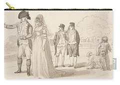 A Family In Hyde Park Carry-all Pouch by Paul Sandby