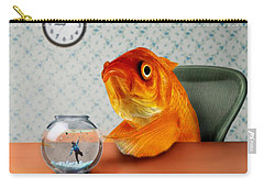 A Fish Out Of Water Carry-all Pouch by Carrie Jackson