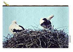 A Happy Stork Couple Carry-all Pouch by Sarah Loft