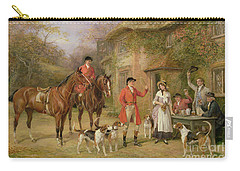 A Meeting At The Three Pigeons Carry-all Pouch by Heywood Hardy