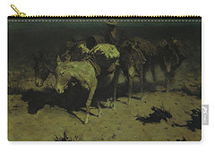 A Pack Train Carry-all Pouch by Frederic Remington