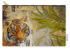 A Taste Of Africa Tiger Carry-all Pouch by Mindy Sommers