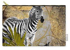 A Taste Of Africa Zebra Carry-all Pouch by Mindy Sommers