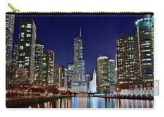 A View Down The Chicago River Carry-all Pouch by Frozen in Time Fine Art Photography