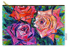 Abstract Bouquet Of Roses Carry-all Pouch by Mona Edulesco