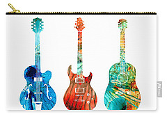 Abstract Guitars By Sharon Cummings Carry-all Pouch by Sharon Cummings