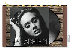 Adele 21 Art With Autograph Carry-all Pouch by Kjc