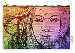 Adele Hello Typography  Carry-all Pouch by Dan Sproul