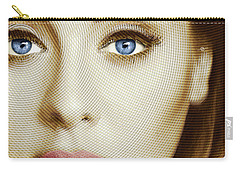 Adele Painting Circle Pattern 1 Carry-all Pouch by Tony Rubino