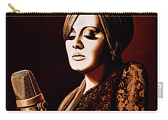 Adele Skyfall Gold Carry-all Pouch by Paul Meijering