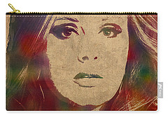 Adele Watercolor Portrait Carry-all Pouch by Design Turnpike