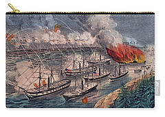 Admiral Farragut's Fleet Engaging The Rebel Batteries At Port Hudson Carry-all Pouch by American School