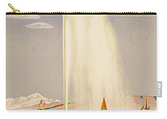 Advertisement For Travel To Geneva Carry-all Pouch by Fehr
