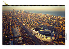 Aerial View Of A City, Old Comiskey Carry-all Pouch by Panoramic Images