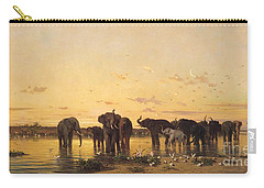 African Elephants Carry-all Pouch by Charles Emile de Tournemine
