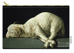 Agnus Dei Carry-all Pouch by Francisco de Zurbaran