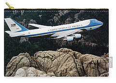 Air Force One Flying Over Mount Rushmore Carry-all Pouch by War Is Hell Store