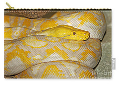 Albino Reticulated Python Carry-all Pouch by Gerard Lacz