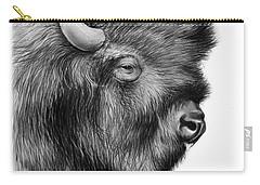 American Bison Carry-all Pouch by Greg Joens