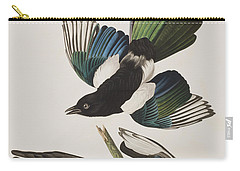 American Magpie Carry-all Pouch by John James Audubon