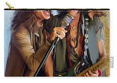 American Rock  Steven Tyler And Joe Perry Carry-all Pouch by Iconic Images Art Gallery David Pucciarelli