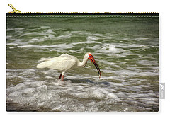 American White Ibis Carry-all Pouch by Chrystal Mimbs