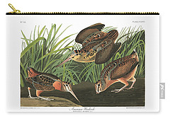 American Woodcock Carry-all Pouch by John Audubon