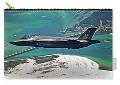 An F-35 Lightning II Flies Over Destin Carry-all Pouch by Stocktrek Images