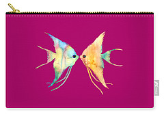Angelfish Kissing Carry-all Pouch by Hailey E Herrera
