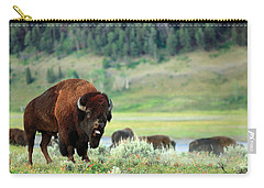 Angry Buffalo Carry-all Pouch by Todd Klassy
