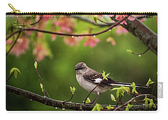 April Showers Bring May Flowers Mocking Bird Carry-all Pouch by Terry DeLuco