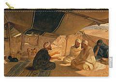 Arabs In The Desert Carry-all Pouch by Frederick Goodall