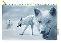 Arctic Wolves Carry-all Pouch by Mal Bray